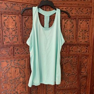 Just be sport Athletic workout shirt mint NWOT fun